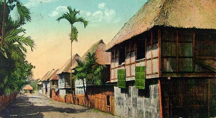 A village street postcard from the early twentieth century. Featured image is another similar postcard.