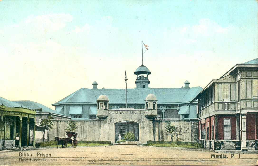 Bilibid Postcard Colorized