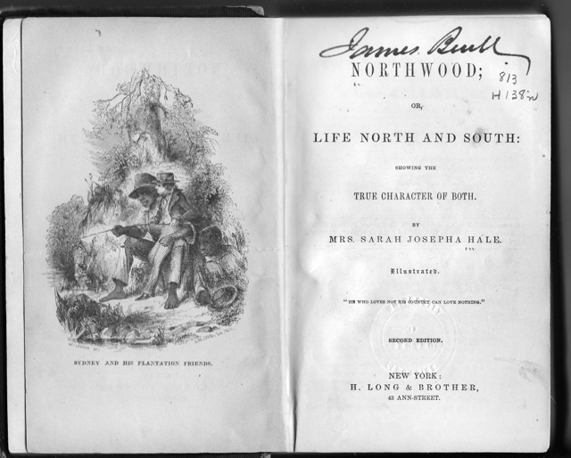 Frontispiece of the second edition of Northwood: Life North and South by Sarah Josepha Hale, courtesy of Wikimedia Commons.