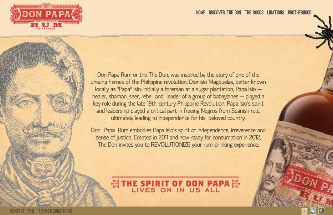 Papa Isio might be dismayed to know that his anti-mercantile legacy has been turned into commercial gold. He is now given credit for a new, posh brand of Don Papa rum.
