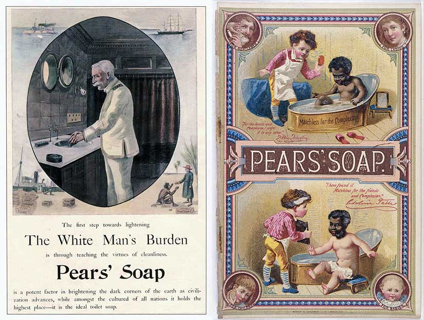 Racism advertising Edwardian Gilded Age Pears Soap