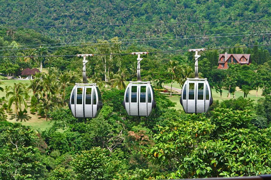 The cable car at Tagaytay Highlands. You would not want to be trapped in here with your worst enemy—or your boyfriend's ex.