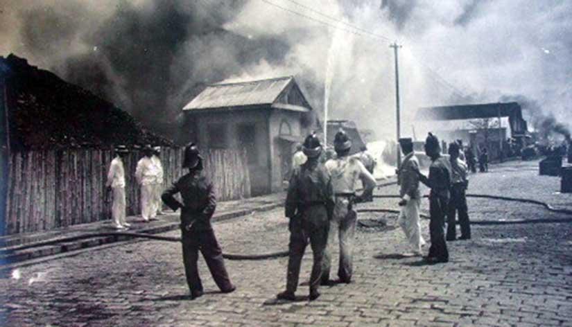 Cholera fire Tondo Manila during American colonial regime Philippines Edwardian Gilded Age era