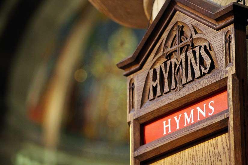 Photo of a church's hymn board by Charles Clegg.