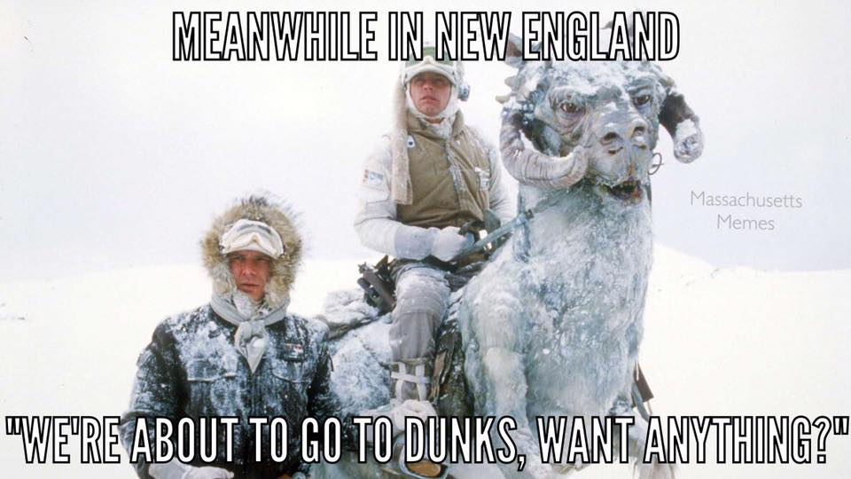 Dunkin Donuts meme courtesy of Massachusetts Memes.