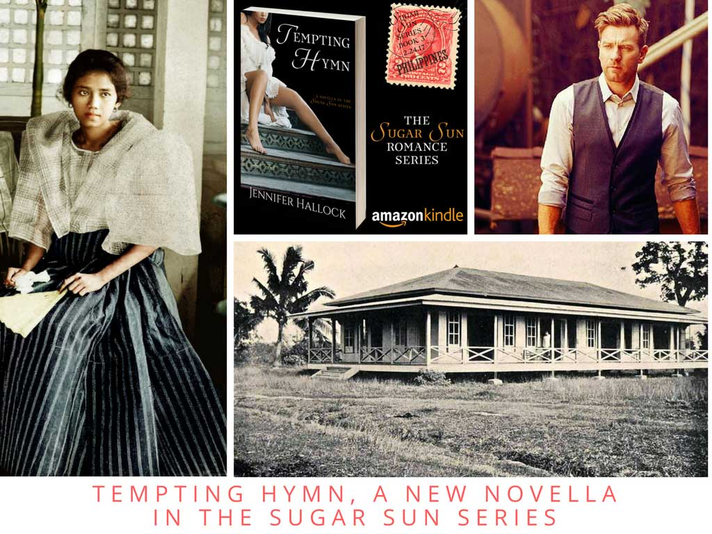 Character board for Tempting Hymn by Jennifer Hallock, part of the steamy Sugar Sun historical romance series.