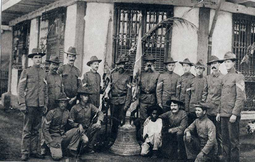 Picture of Ninth Infantry Army soldiers survived Balangiga attack war between Philippines and America in Gilded Age