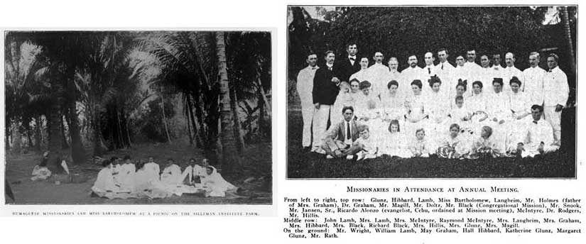 American Presbyterian missionaries at Silliman University in Dumaguete Philippines