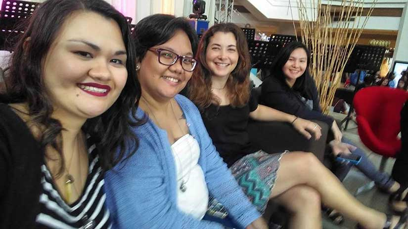 Steamy panel at Romance Writers of the Philippines convention at Ayala Alabang mall with Bianca Mori Mina V. Esguerra and Georgette Gonzales