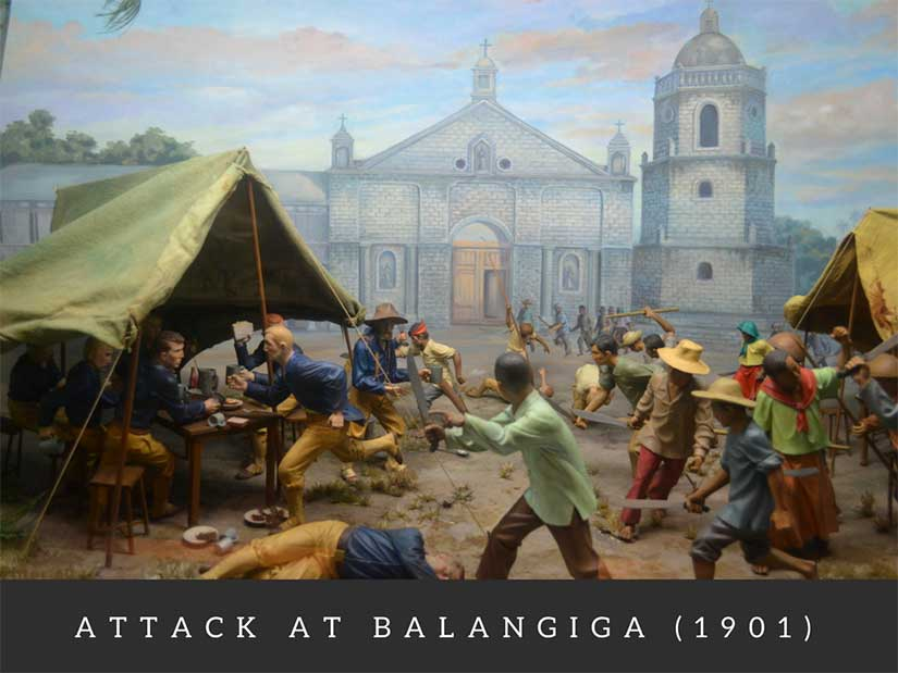 Google Cultural Institute shows Ayala Museum Balangiga attack in war between Philippines and America in Gilded Age