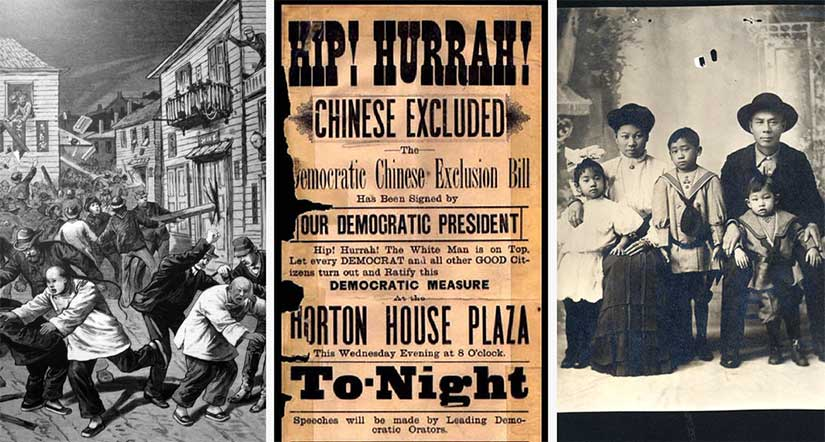 Anti-immigration illustrations and cartoons about Chinese Exclusion Act for interview with Joanna Shupe author of Gilded Age historical romance