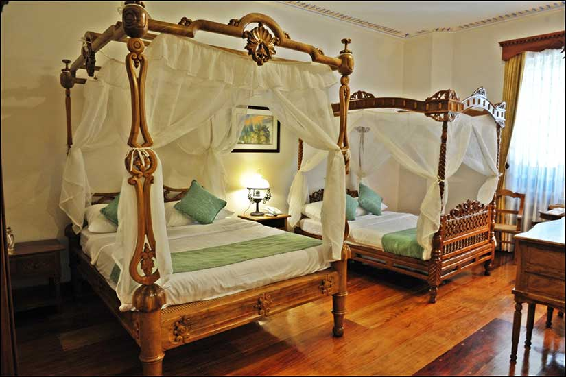 Reproduction of antique Philippines bed in the Sugar Sun steamy historical romance series
