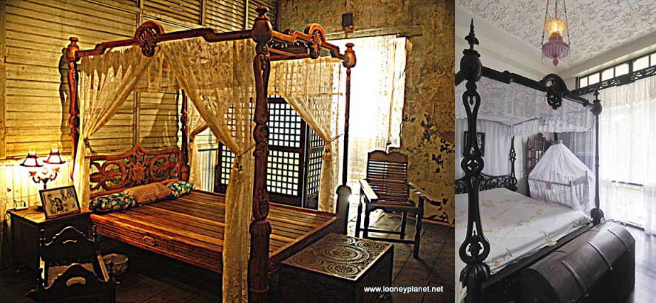 Antique Philippines bed in the Sugar Sun steamy historical romance series