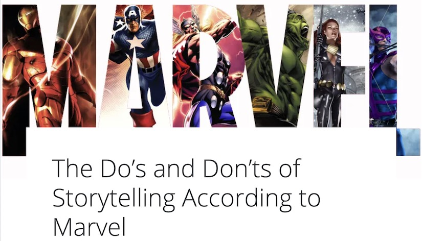 Storytelling According to Marvel Banner