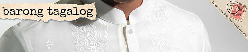 barong tagalog dress shirt glossary term in Sugar Sun steamy historical romance series by author Jennifer Hallock. Serious history. Serious fun. Happily ever after.