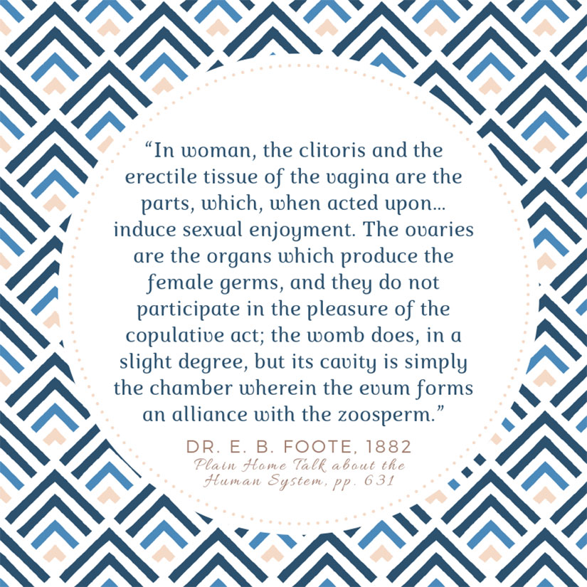 E.B. Foote quote on Gilded Age sex ed