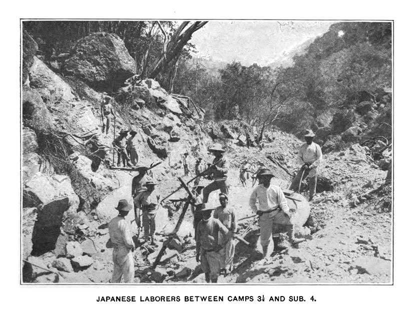 Japanese laborers on Benguet Road for Jennifer Hallock Sugar Moon