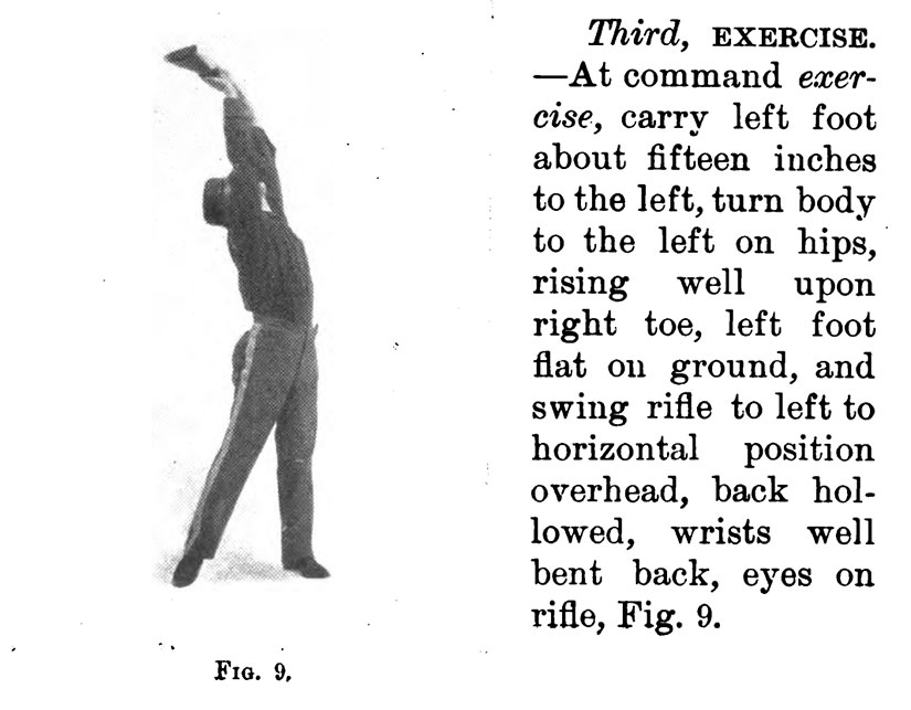 army-drill-rifle-bend-back