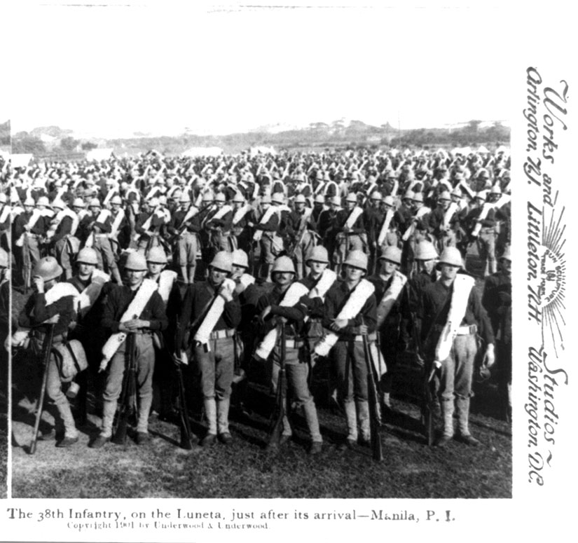 38th Infantry on the Luneta