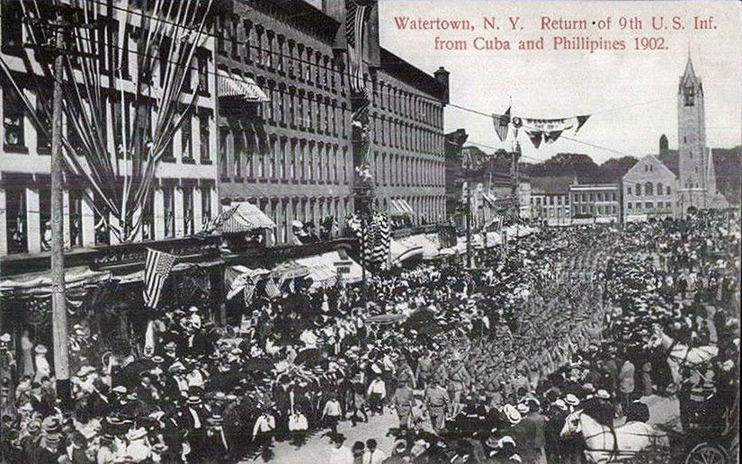 Ninth-Infantry-postcard-return-USA