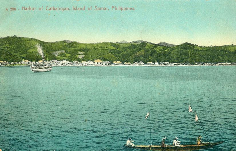 Catbalogan-Harbor-vintage-postcard