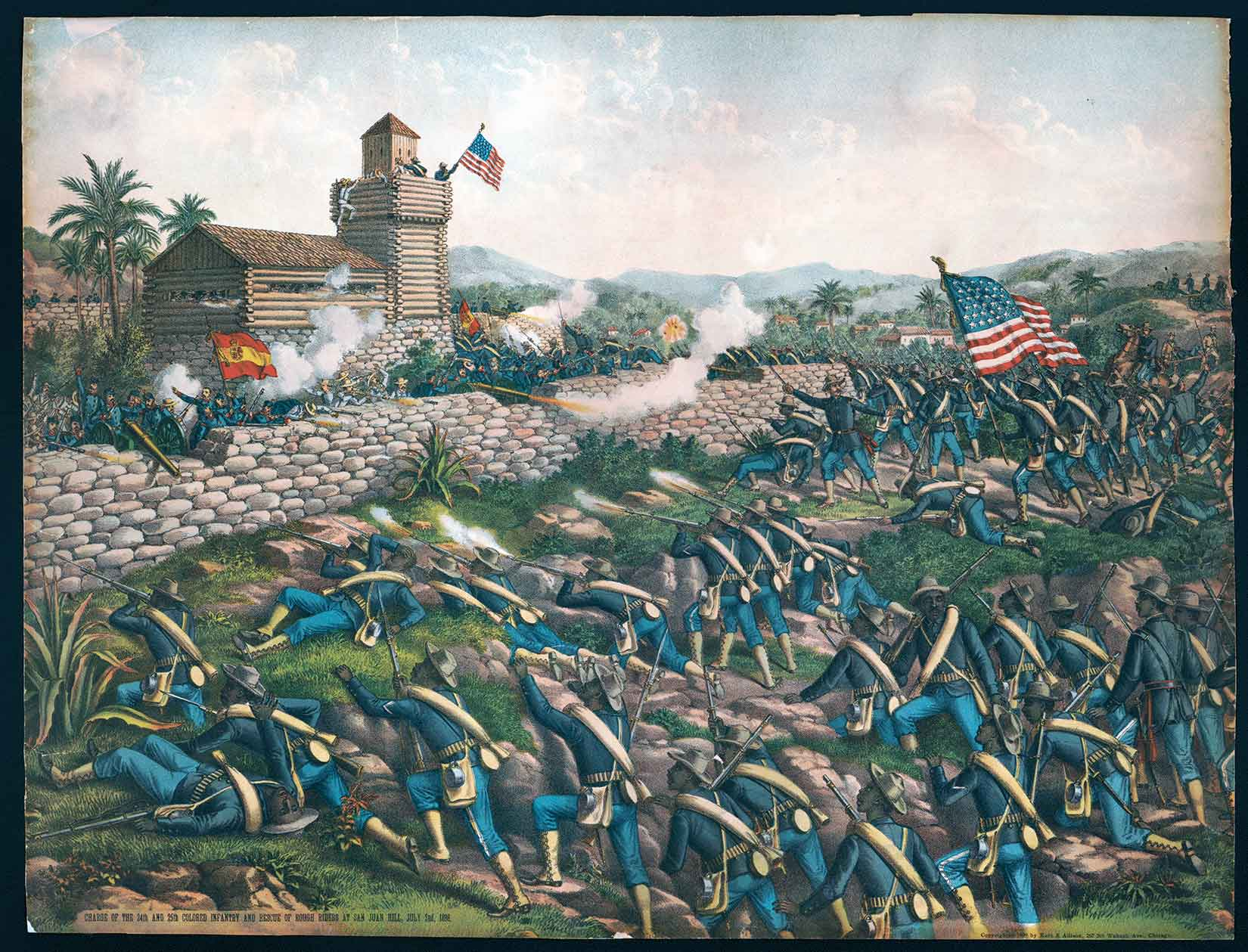 24th-and-25th-infantry-San-Juan-Cuba