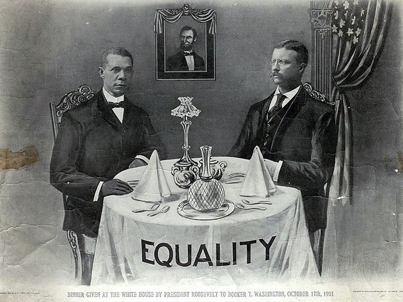 Washington and Roosevelt in the White House