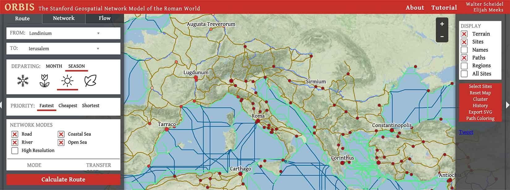 Orbis-Geospatial-Network-Rome-Travel-Distance-Screen