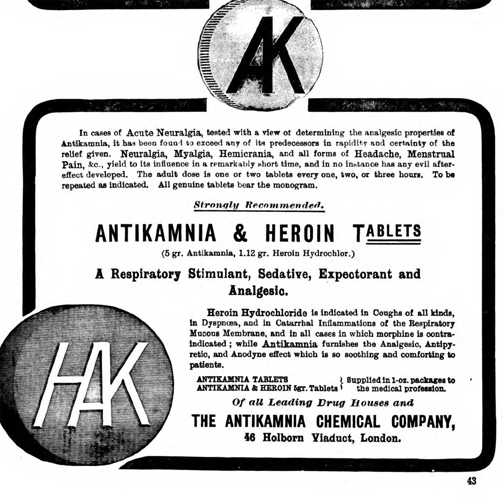 Antikamnia-Heroin-Lancet